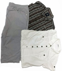 Używany komplet ubrań