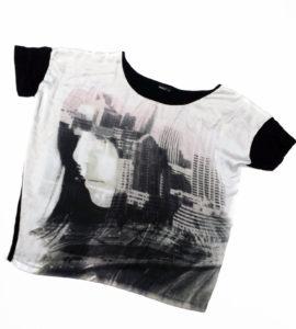 Używana koszulka z miastem