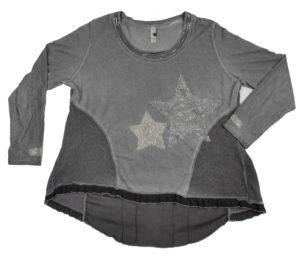 Szara bluzka z gwiazdkami