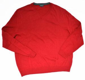 Czerwony męski sweter