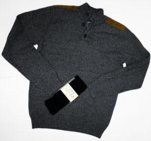 Szary używany sweter męski